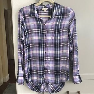Lucky brand plaid bungalow button up shirt